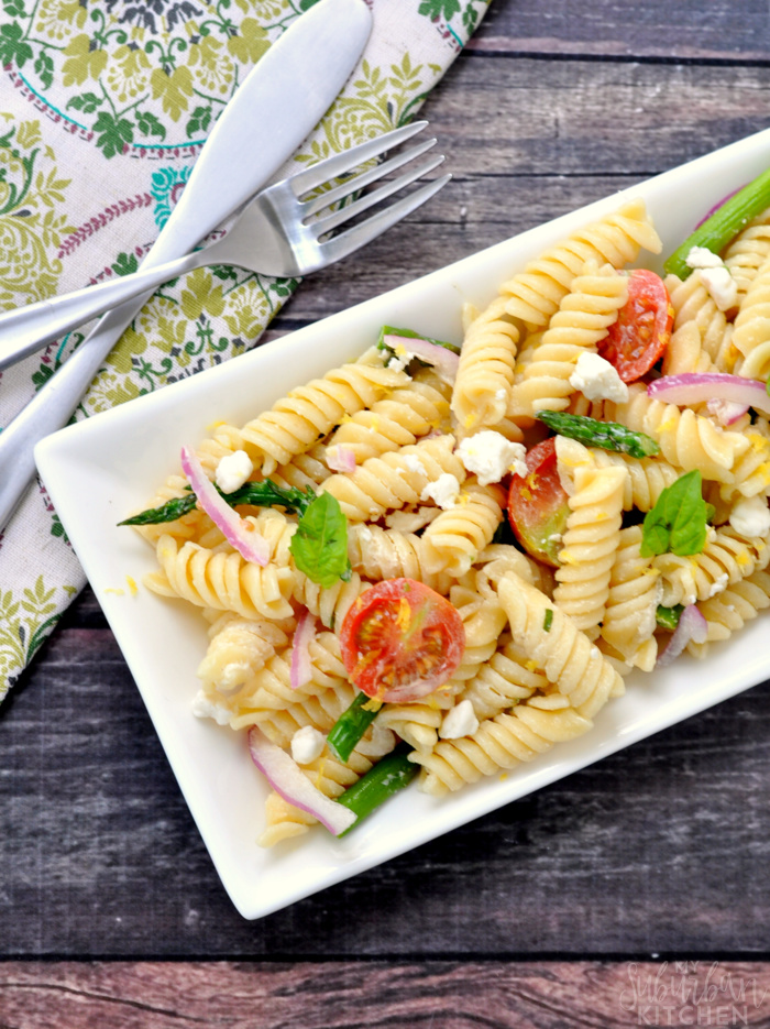 Roasted Asparagus Pasta Salad