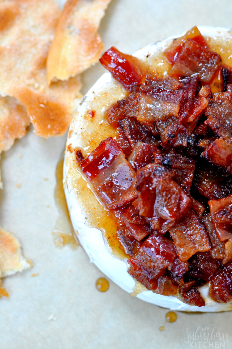 Cayenne Candied Bacon Brie