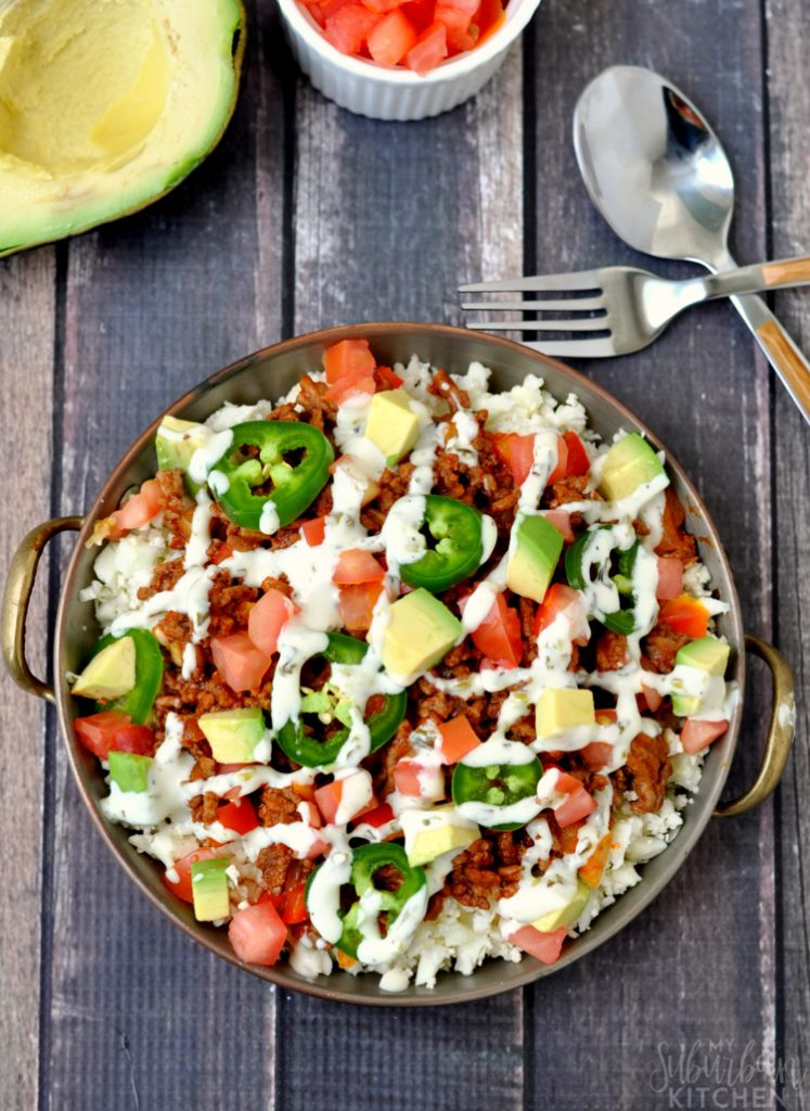 Paleo Taco Bowl - My Suburban Kitchen