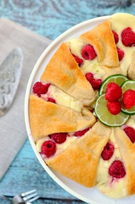 Raspberry Cheesecake Crescent Ring