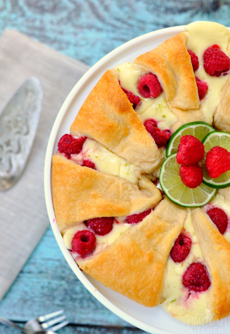Raspberry Cheesecake Crescent Ring