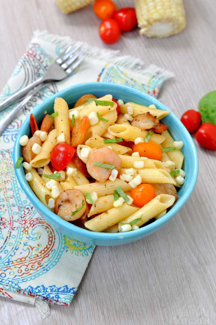 ... corn. In a large bowl, combine cooled pasta, corn kernels, tomatoes