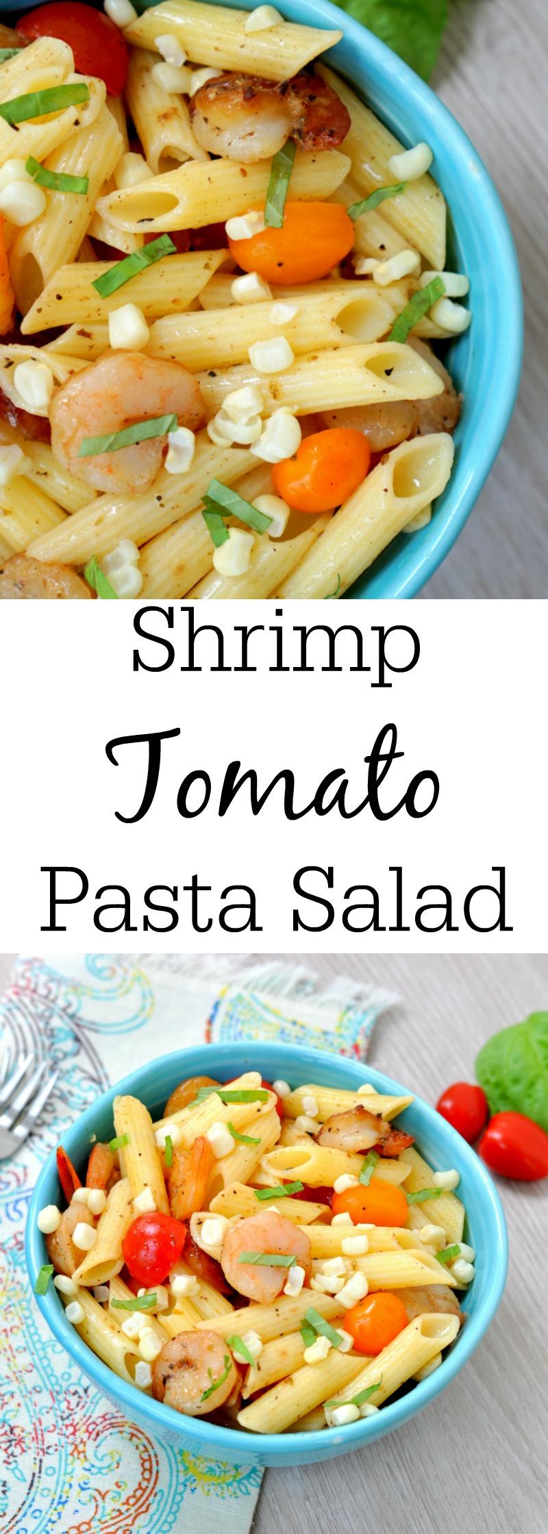 Shrimp, Tomato and Corn Pasta Salad