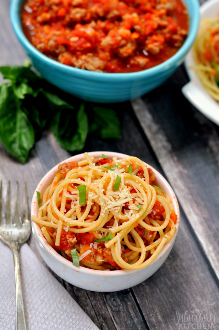 Easy Sausage Bolognese