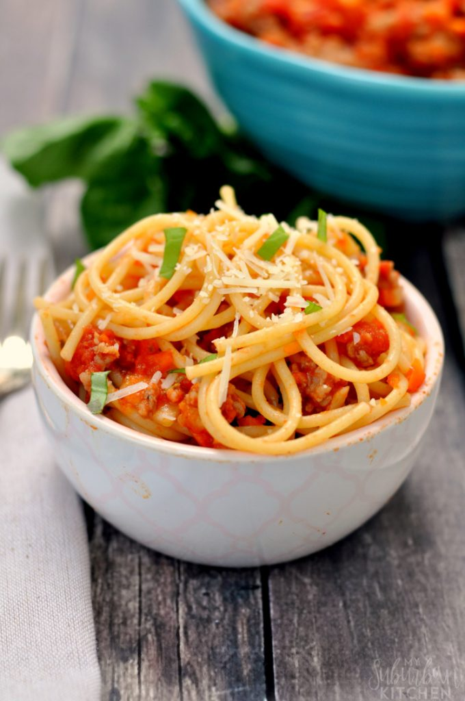 Easy Sausage Bolognese - My Suburban Kitchen