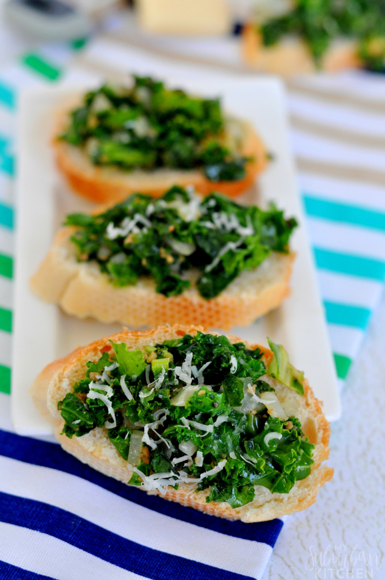 Spicy Kale Crostini