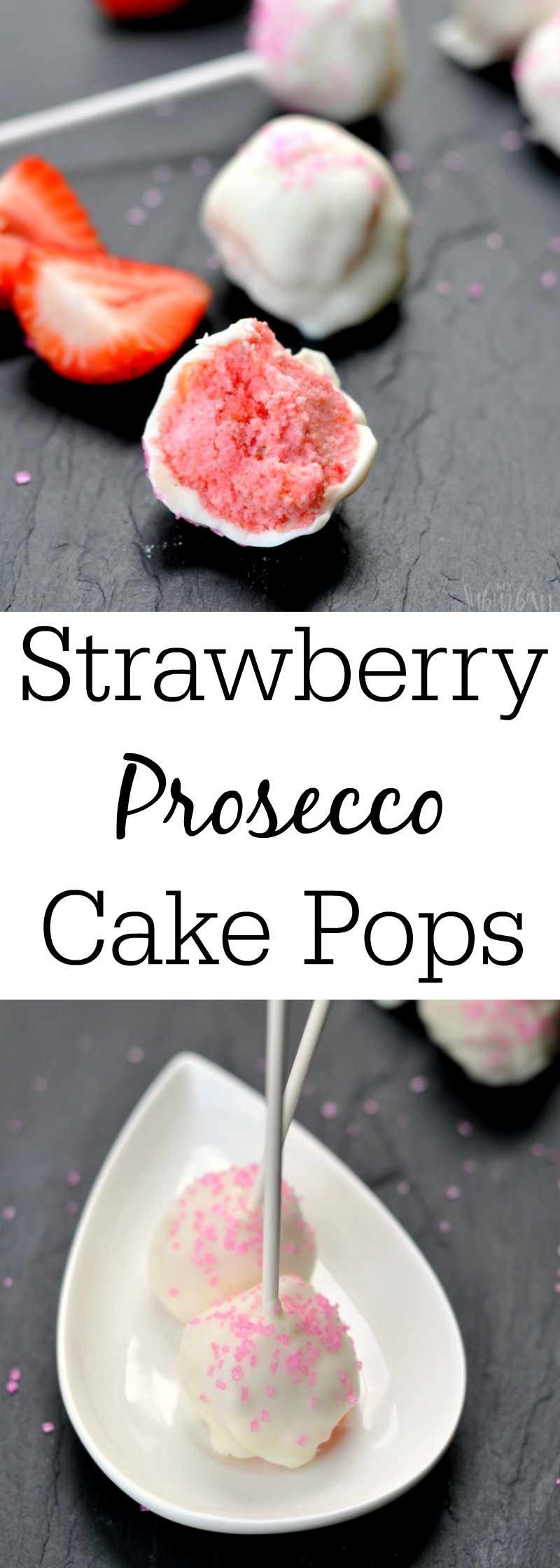 Strawberry Prosecco Cake Pops