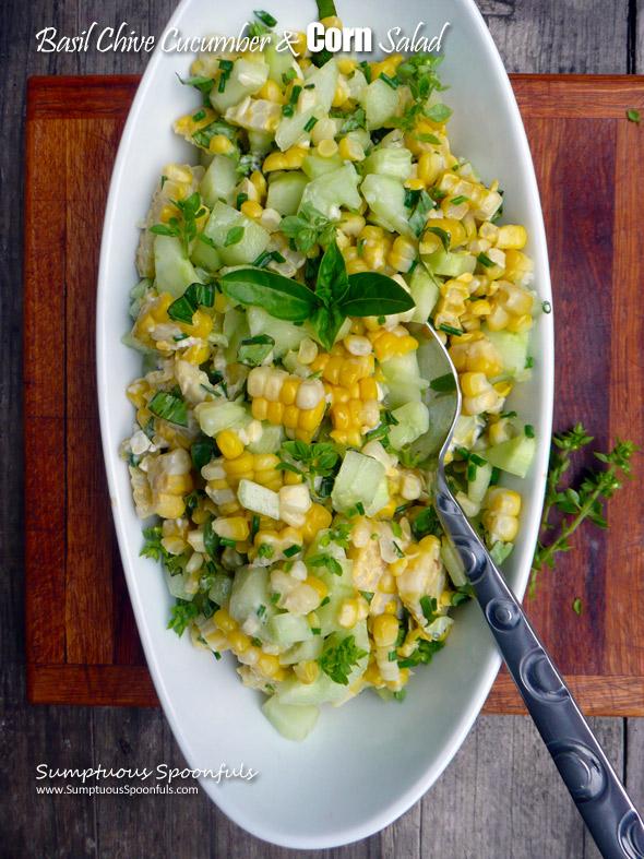 05 - Sumptuous Spoonfuls - Basil Chive Cucumber Corn Salad