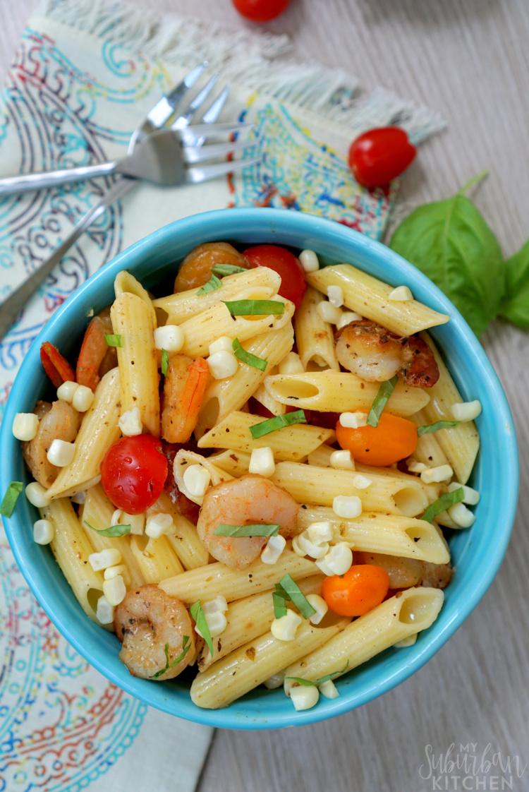 07 - My Suburban Kitchen - Tomato Corn Pasta Salad