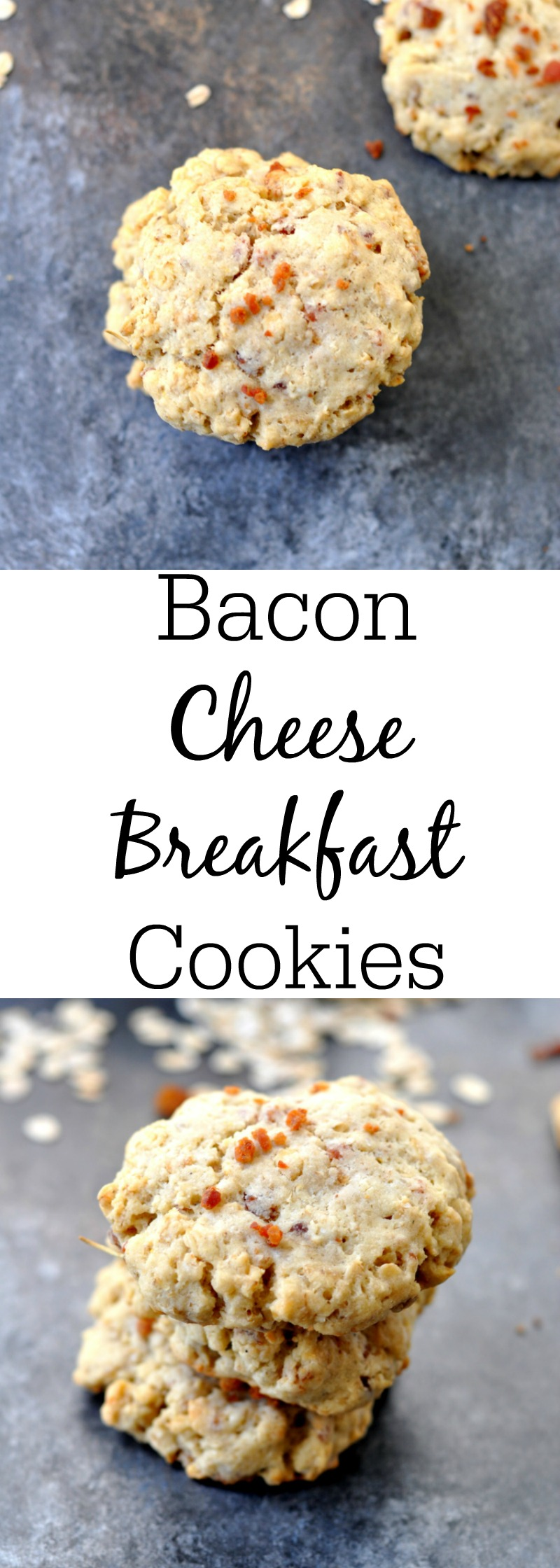 Bacon Cheese Breakfast Cookies