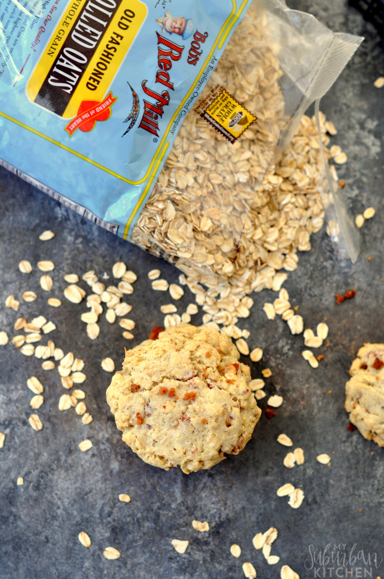 On The Go Bacon Cheese Oatmeal Breakfast Cookies