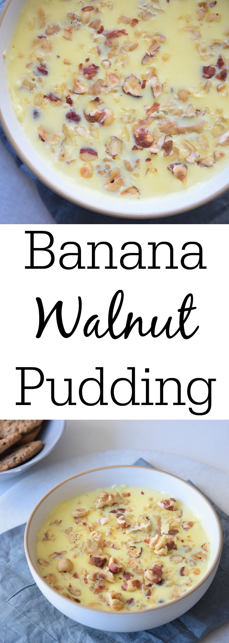 Banana Walnut Pudding