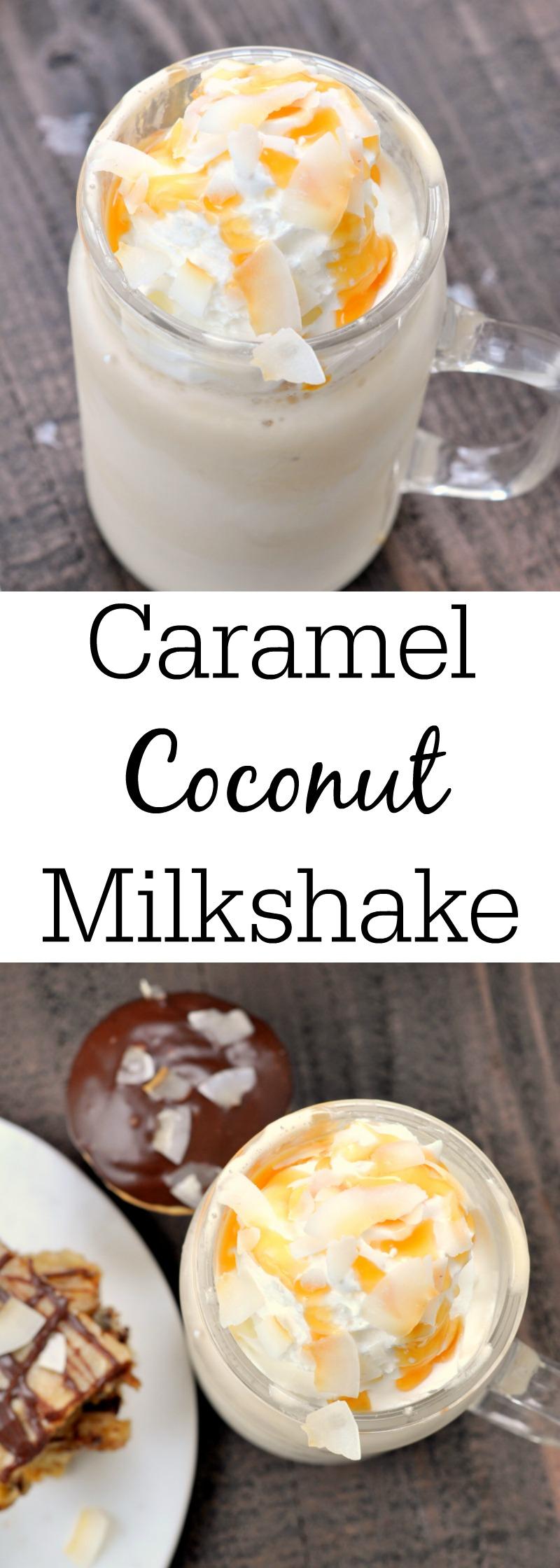 Salted Caramel Coconut Milkshake