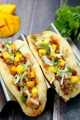 Chicken Bacon Mango Tacos