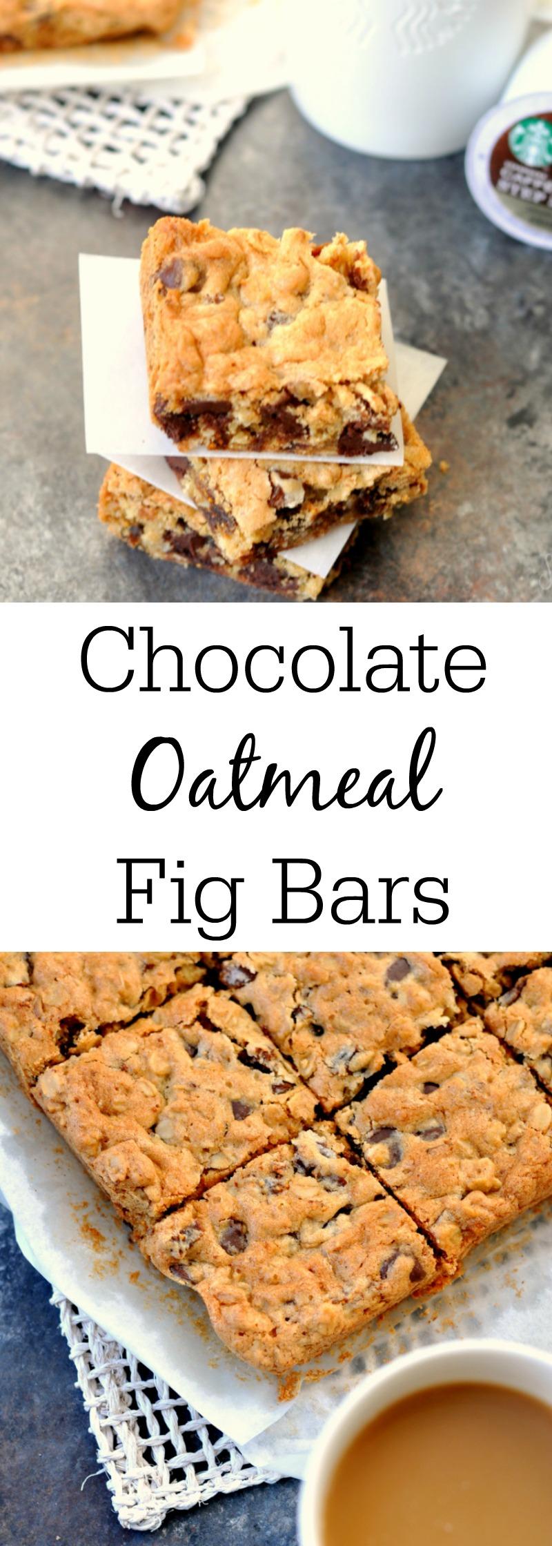 Dark Chocolate Oatmeal Fig Bars