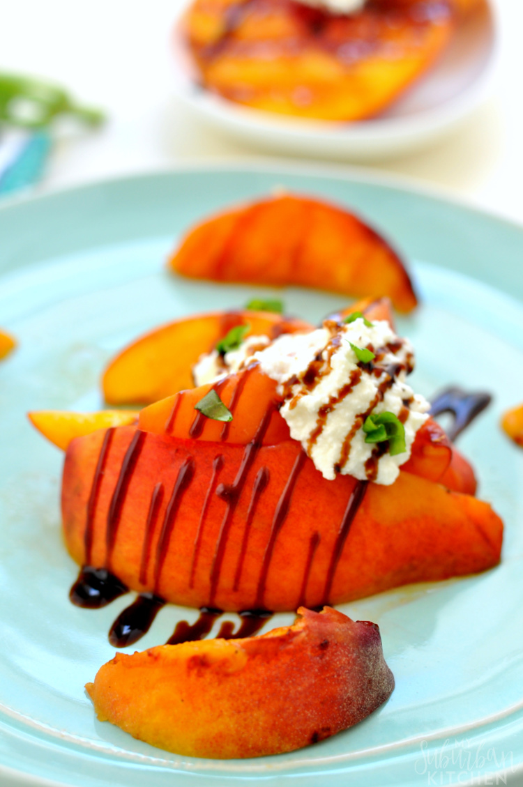 Easy Grilled Peaches with Ricotta