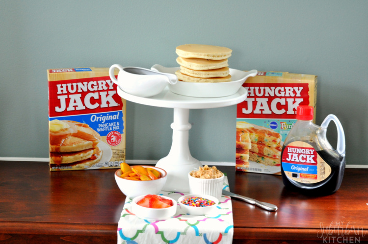 Honey Walnut Butter Pancake Party