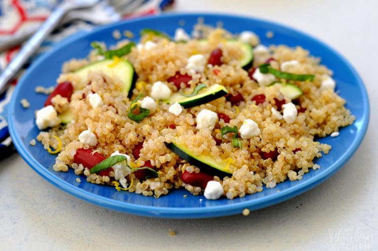 Zucchini Quinoa Salad