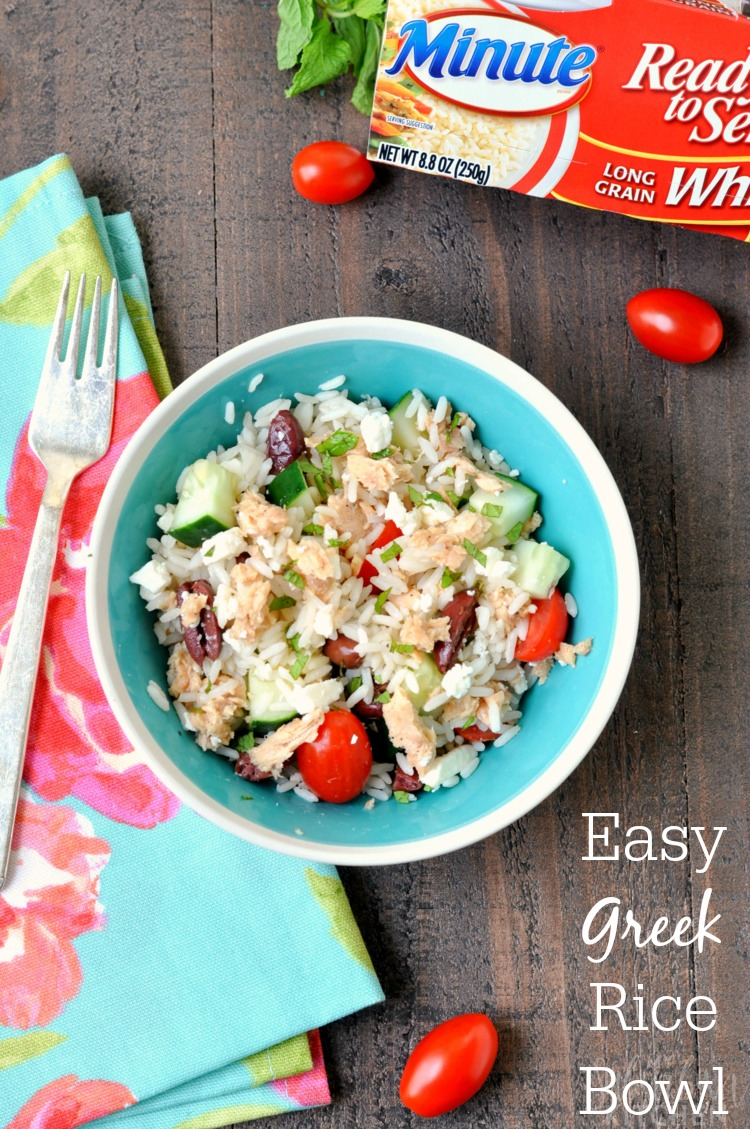 Easy Greek Rice Bowl