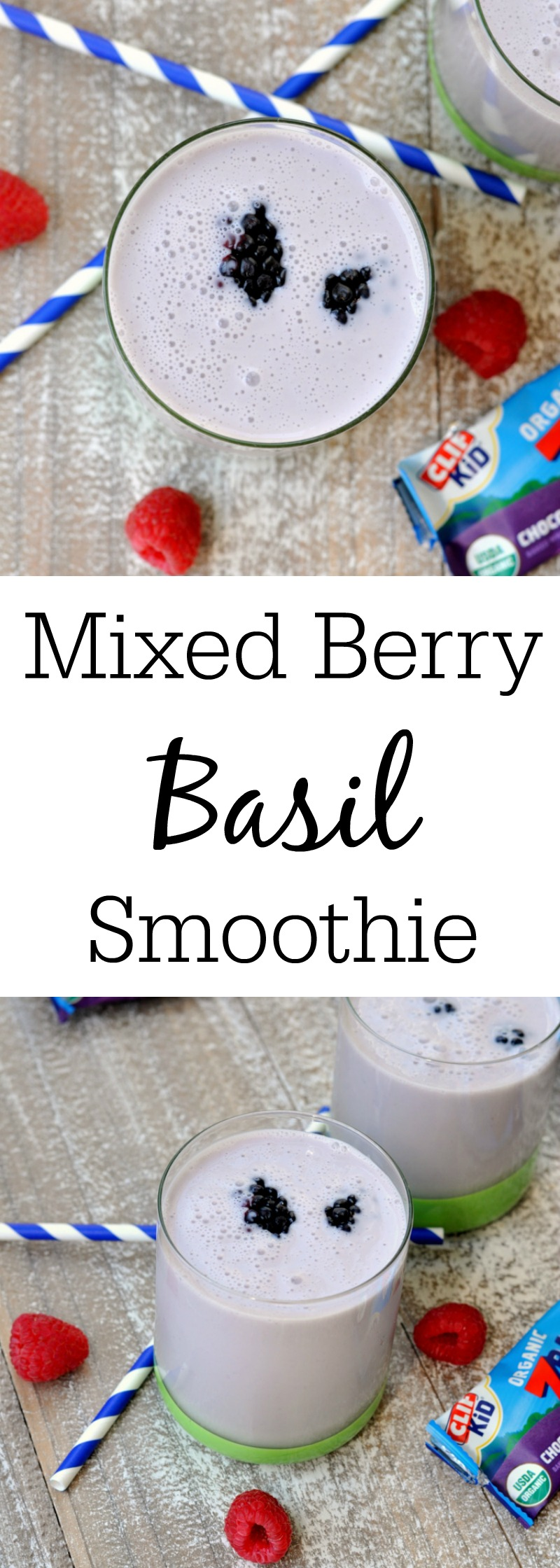 Mixed Berry Basil Smoothie