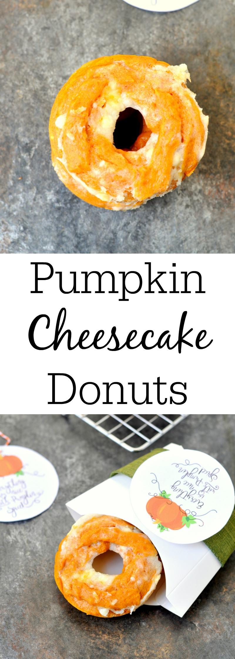 Pumpkin Spice Cheesecake Donuts
