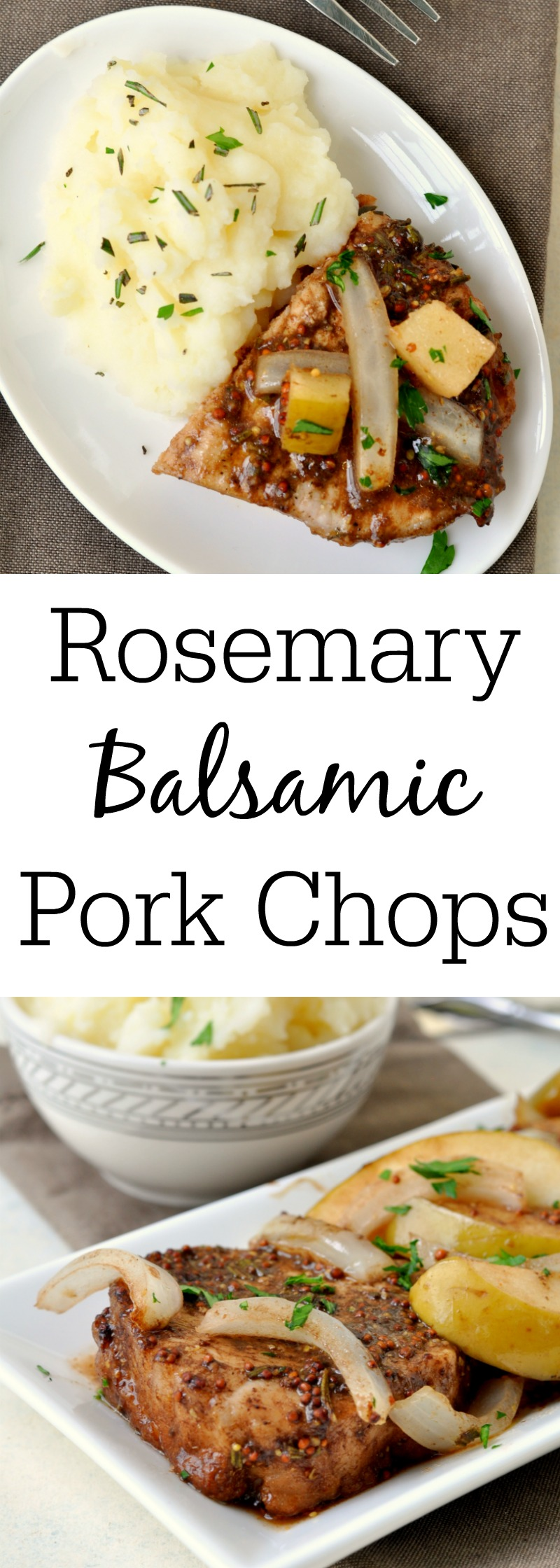 Rosemary Balsamic Pork Chops