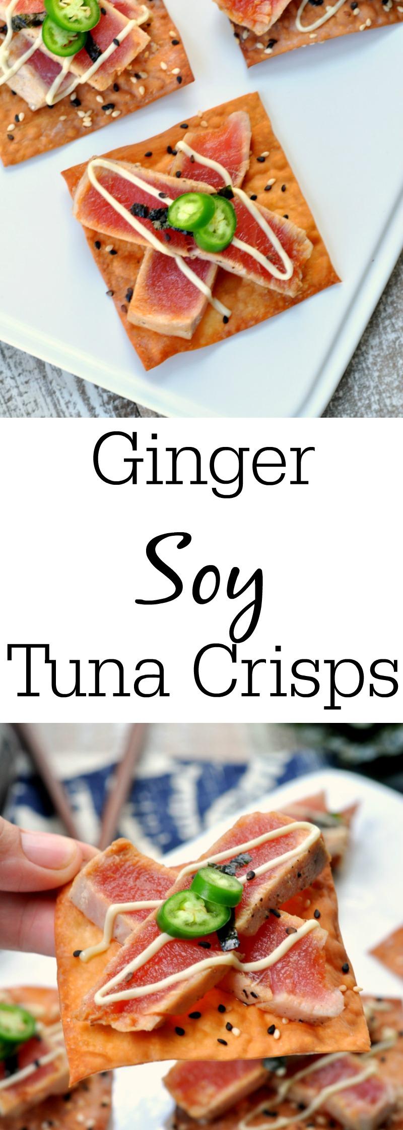 Ginger Soy Tuna Crisps