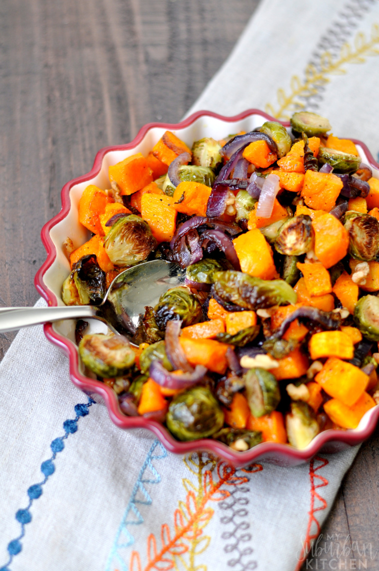 Roasted Brussels Sprouts and Butternut Squash - My ...