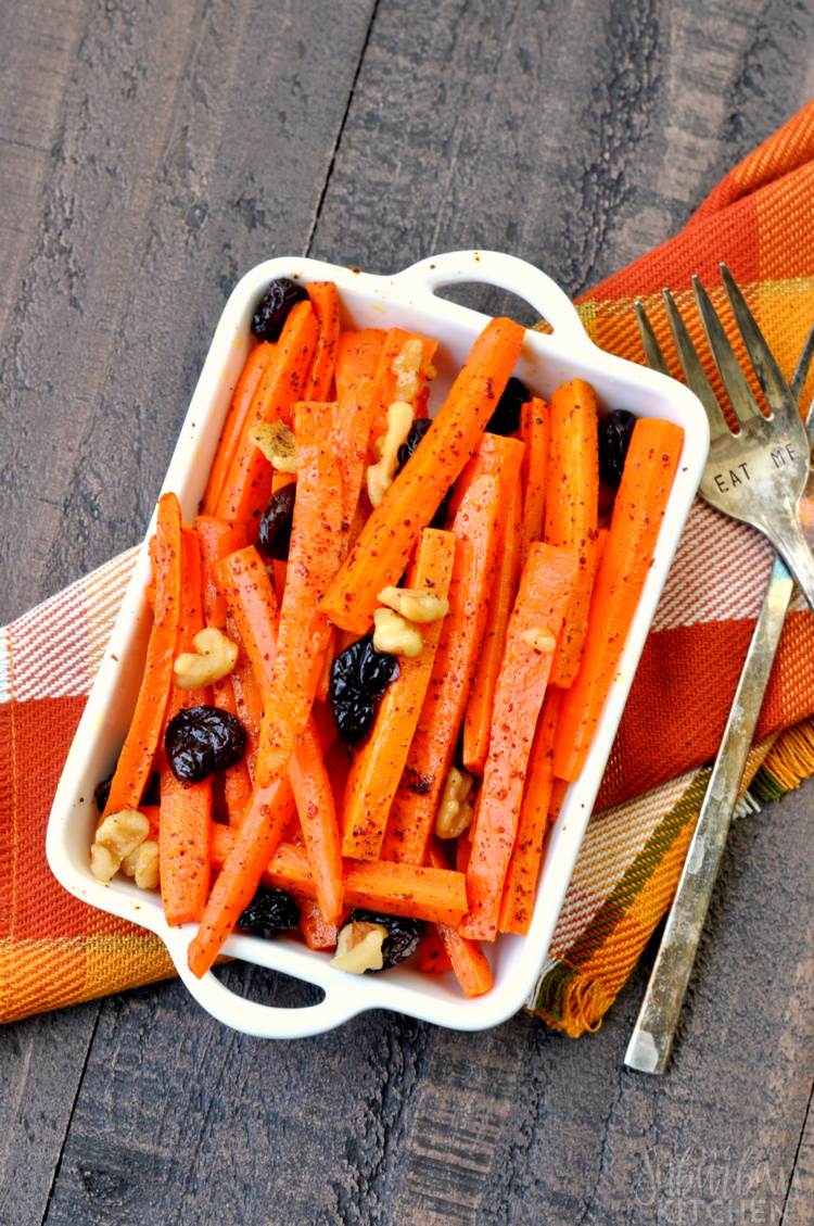 Sumac Roasted Carrots with Walnuts Recipe