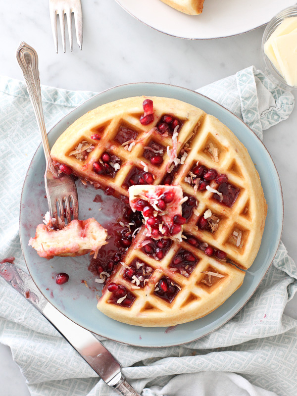 06-foodie-crush-coconut-waffles-with-pomegranate-syrup