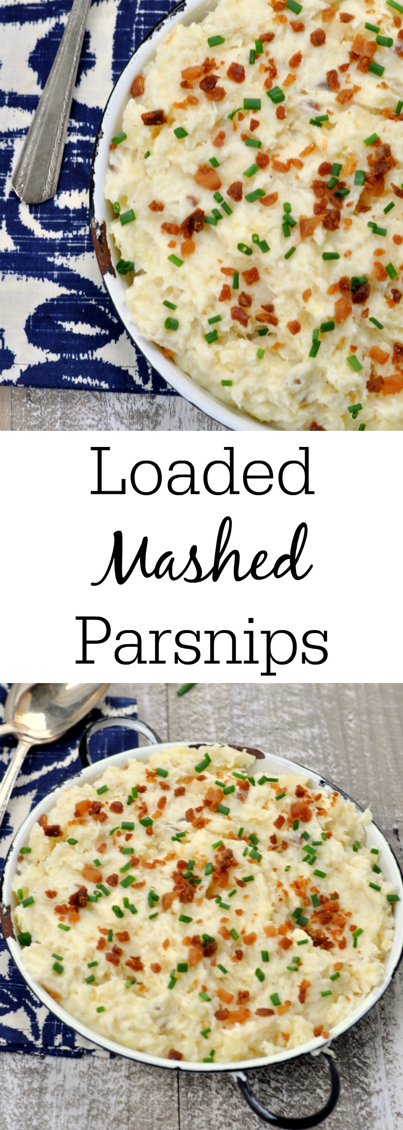 Loaded Mashed Parsnips