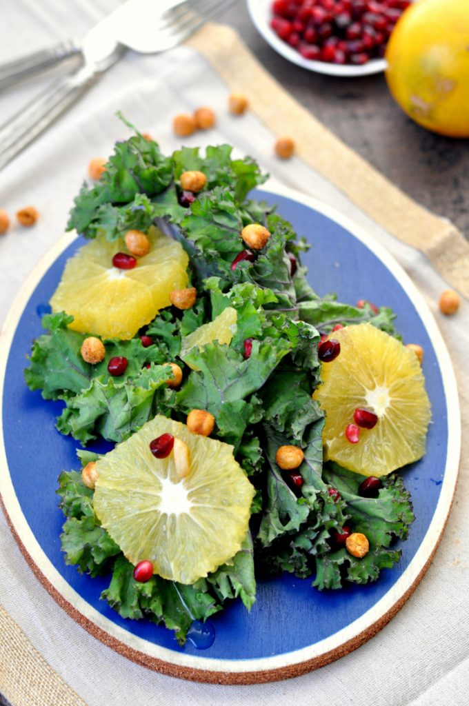 Kale pomegranate salad my suburban kitchen - Deseed pomegranate less one minute video ...