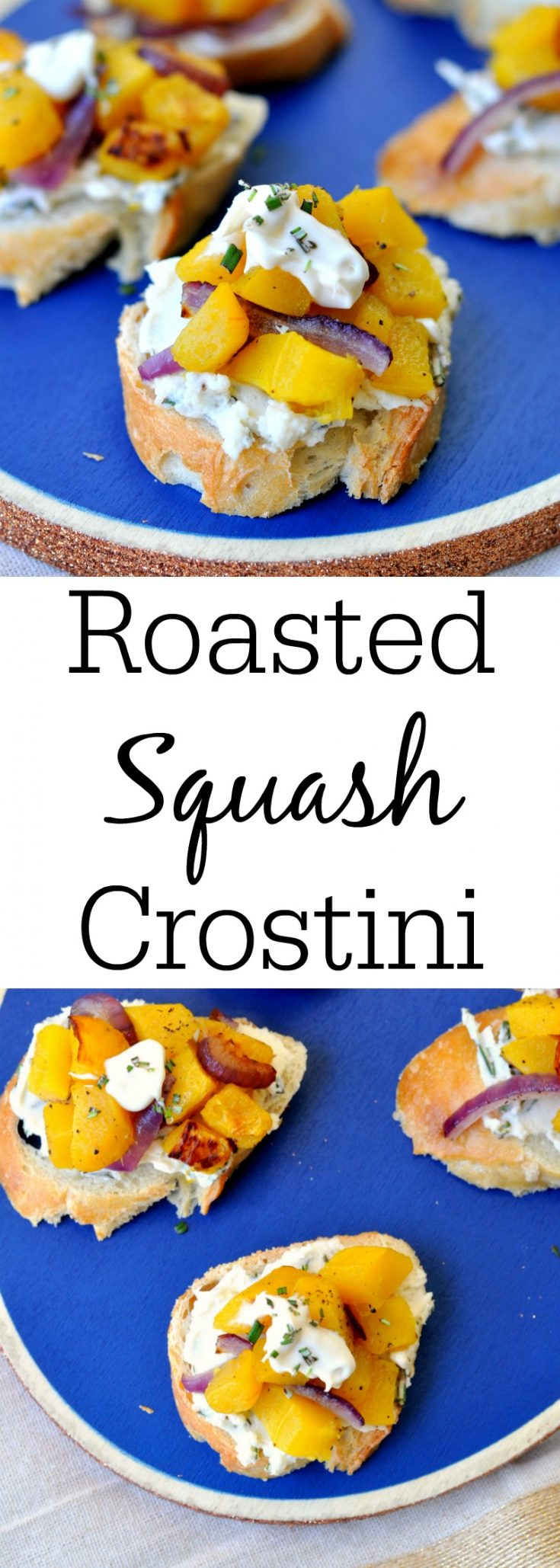 Roasted Squash Crostini - The perfect fall appetizer!