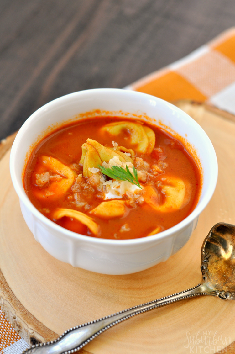 Roasted Red Pepper Soup - My Suburban Kitchen