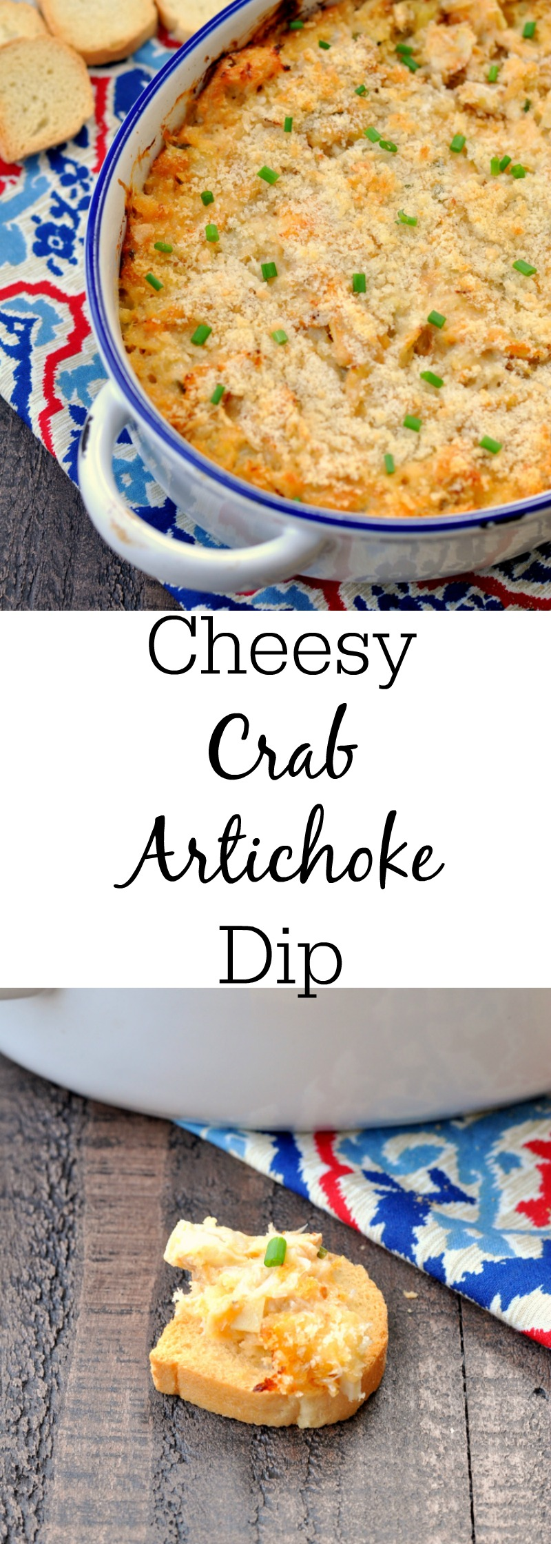 Cheesy Crab Artichoke Dip
