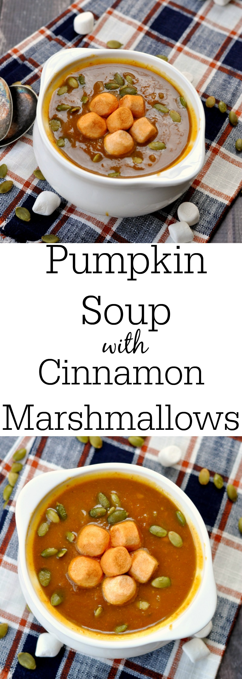 Pumpkin Soup with Cinnamon Marshmallows