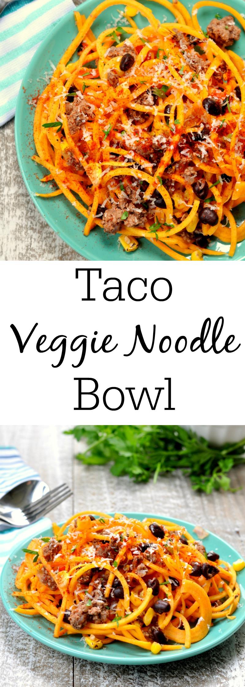 Veggie Noodle Taco Bowl
