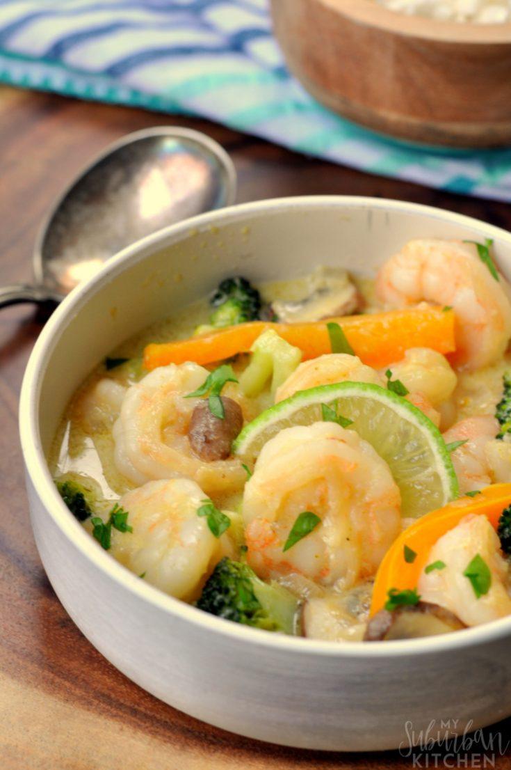 Thai Green Curry Shrimp (Whole30, Paleo)