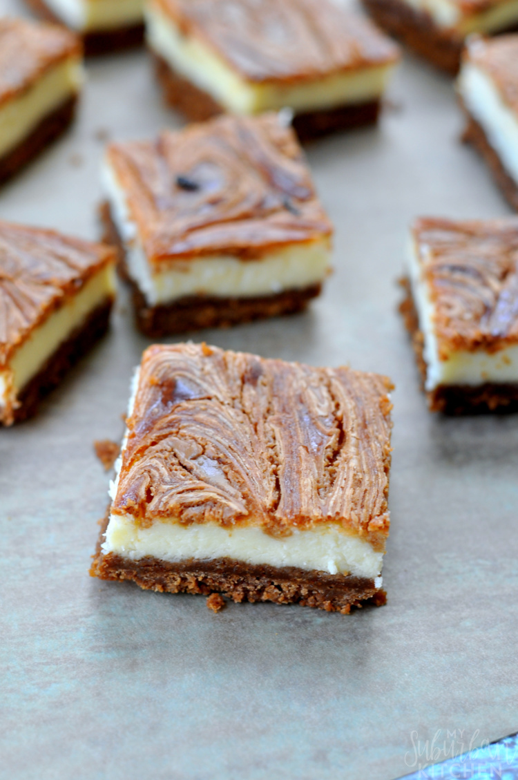 Cookie Butter Cheesecake Bars Recipe