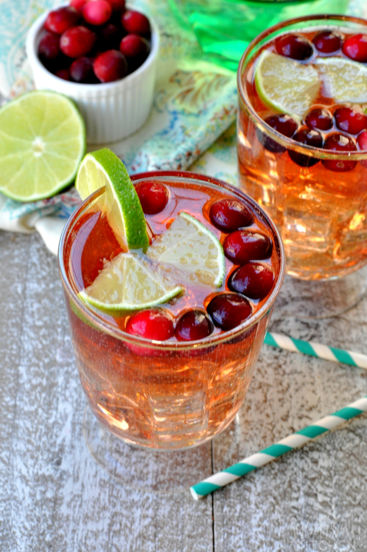 Cranberry Lime Spritzer
