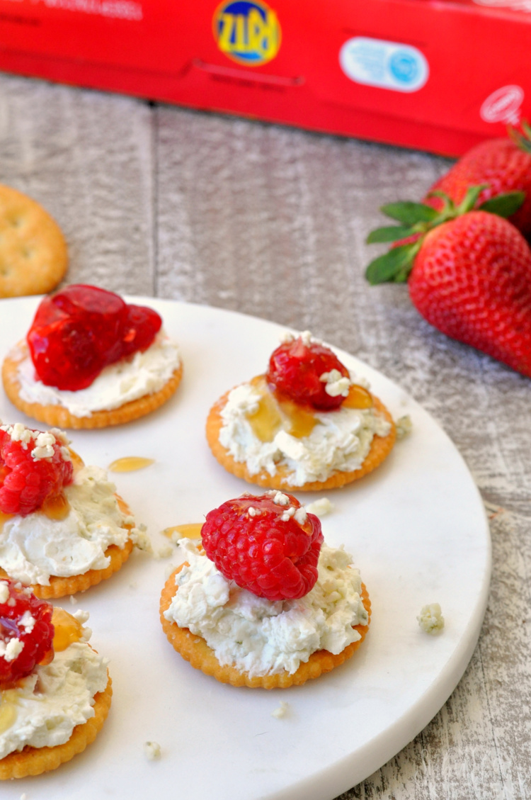 Blue Cheese Raspberry Bites