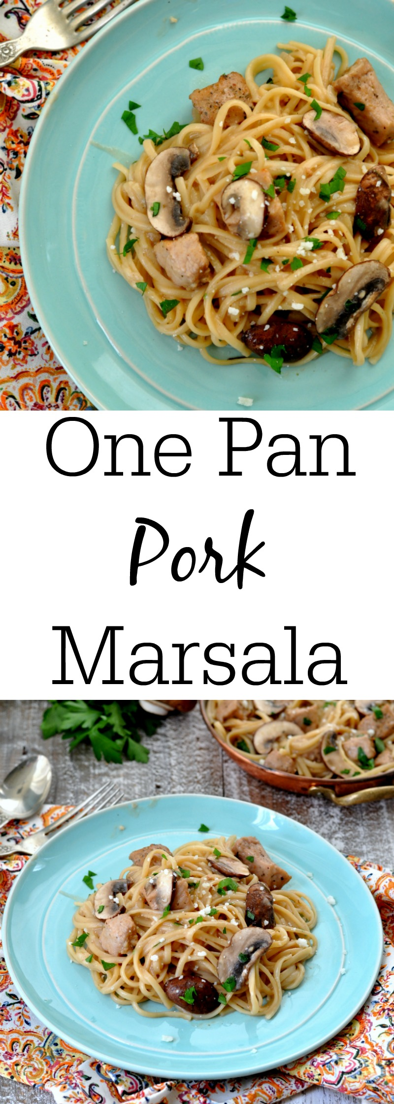 One Pan Pork Marsala