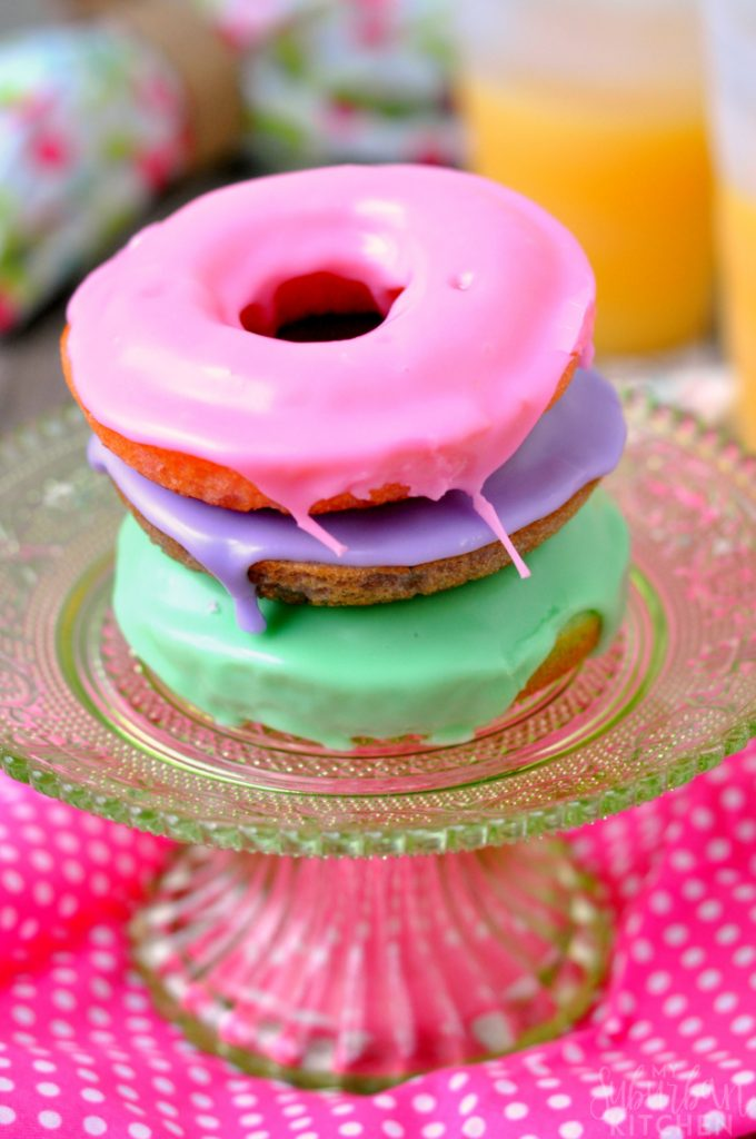 Snow On First Day Of Spring Makes Me >> Spring Pastel Vanilla Donuts - My Suburban Kitchen