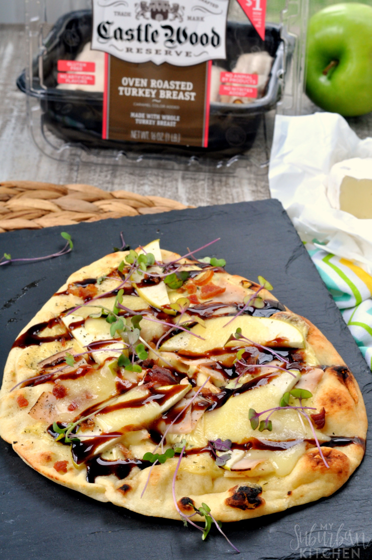 Turkey Apple Brie Flatbread