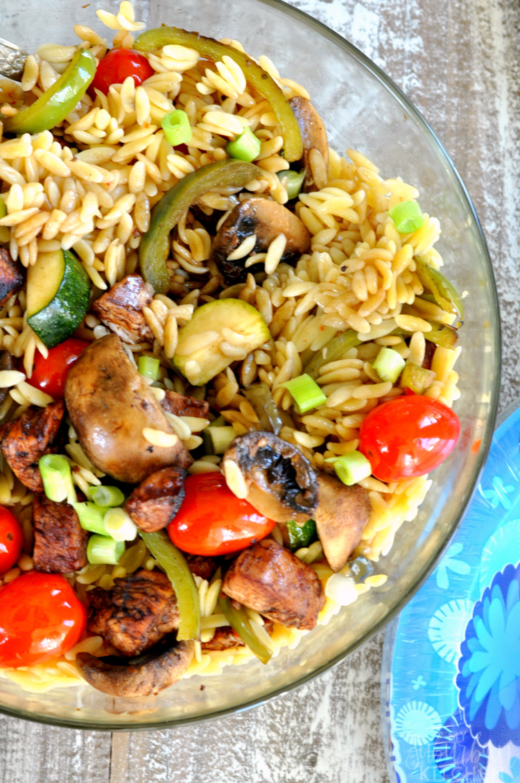Grilled Balsamic Chicken and Orzo