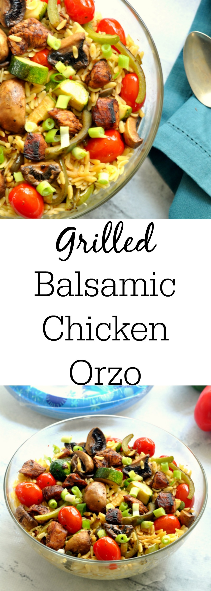 Grilled Balsamic Chicken and Vegetable Orzo