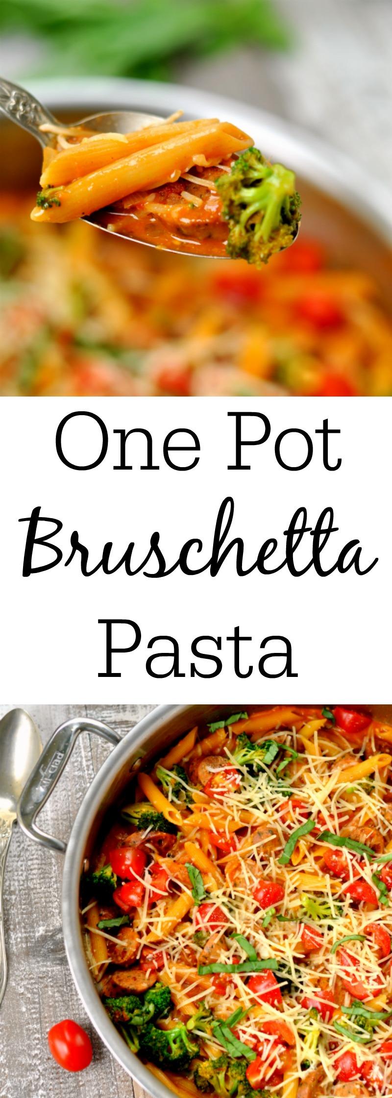 One Pot Bruschetta Pasta