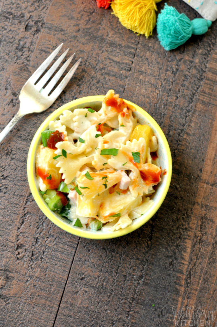 Yummy Hawaiian Pizza Pasta Salad
