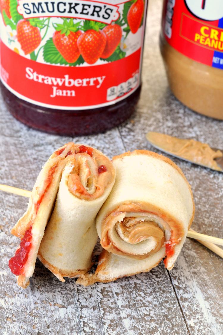 Strawberry PB&J Roll-Ups