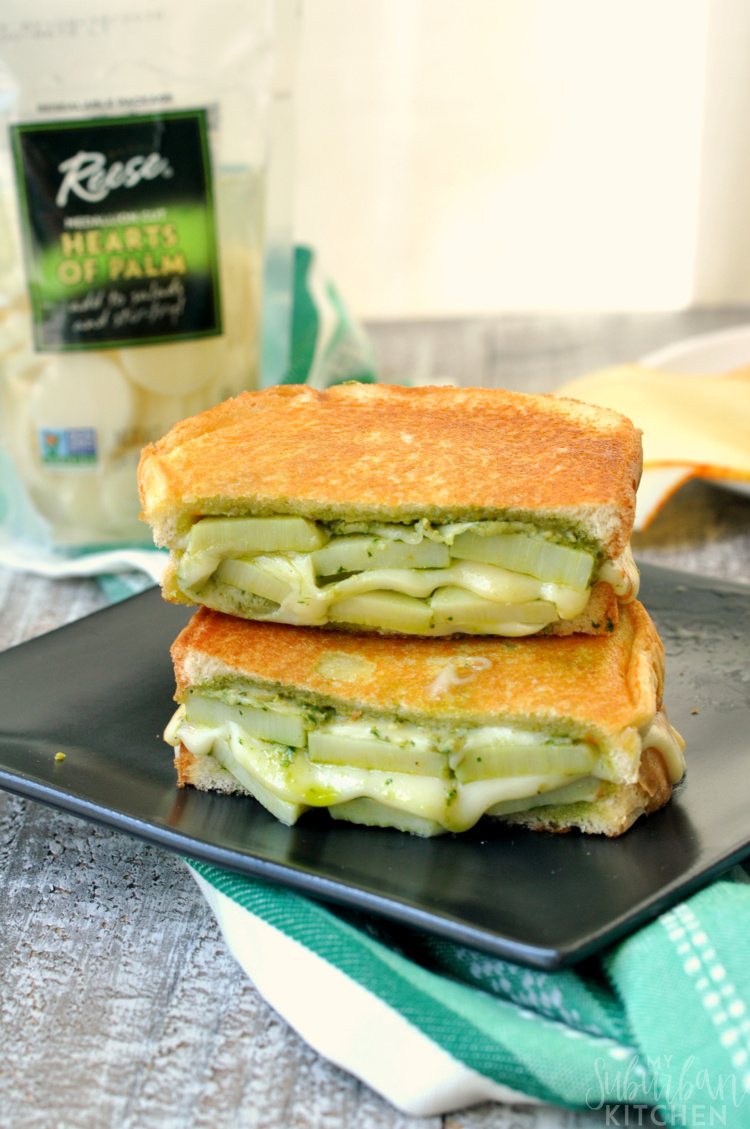 Pesto Hearts of Palm Grilled Cheese